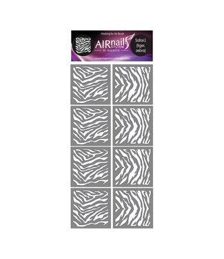 Magnetic Nail Design Airnails Collectie Safari 1 Tijger en Zebra