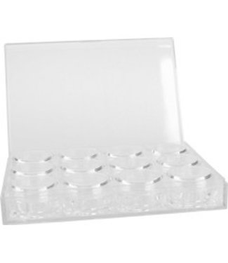 Magnetic Box met 12 lege 3 grams potjes