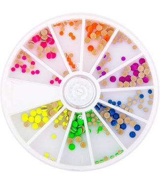 Magnetic Neon Studs 240 st. 6 kleuren in 2 maten