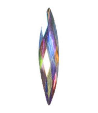 Magnetic Rhinestone Oval 3.5x13mm WhiteAB