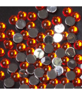 Magnetic Strass Rond Orange 100 st.