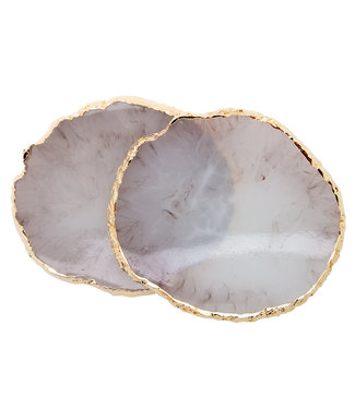Magnetic Display Agaat Geode Taupe