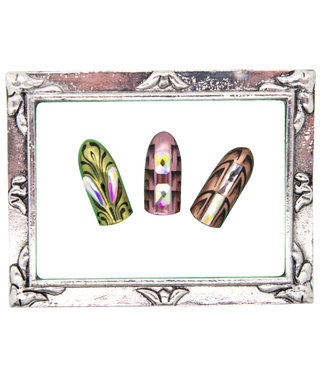 Magnetic Nail Design Display Frame Silver