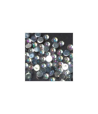 Magnetic Strass Rond Clear Ice Medium 100 st.