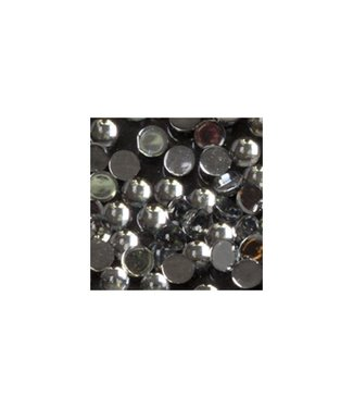 Magnetic Strass Rond Clear Medium 100 st.