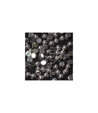 Magnetic Strass Rond Silver Small 100 st.