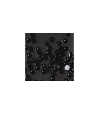 Magnetic Strass Rond Black Small 100 st.