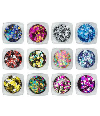Magnetic Nail Design Confetti Metalic