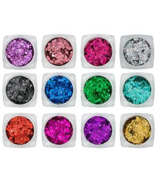 Magnetic Nail Design Confetti Laser