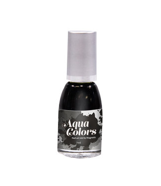 Magnetic Nail Design Aqua Colors Black 7 ml.