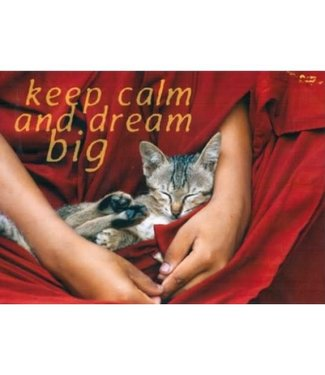 Kaart Keep calm and dream big