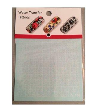 Water Transfer Tattoo S114 Wit