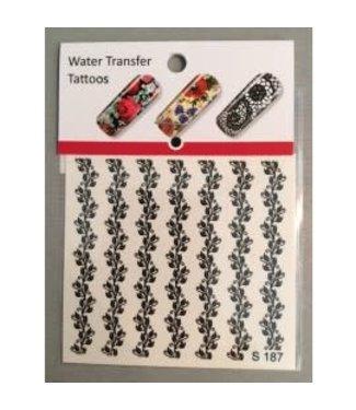 Water Transfer Tattoo S187 Zwart