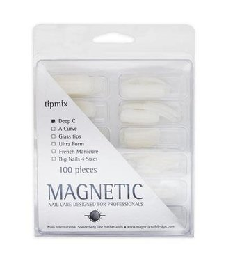Magnetic Nail Design Tipdoos Deep C 100 st.