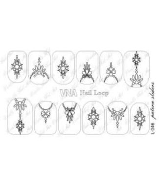 Vanilla Nail Art VNA Waterdecal Loop 046