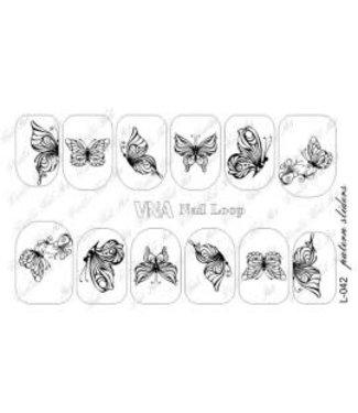 Vanilla Nail Art VNA Waterdecal Loop 042