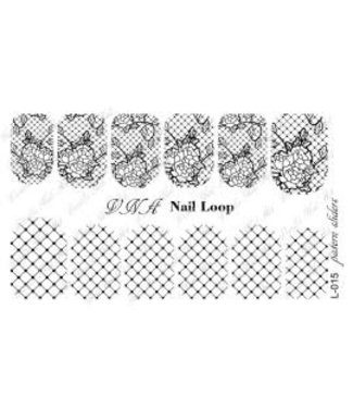 Vanilla Nail Art VNA Waterdecal Loop 015