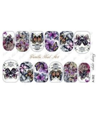 Vanilla Nail Art VNA Waterdecal Prints A 362