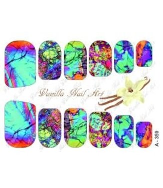 Vanilla Nail Art VNA Waterdecal Prints A 359