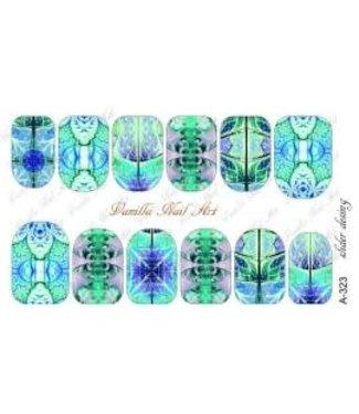 Vanilla Nail Art VNA Waterdecal Prints A 323