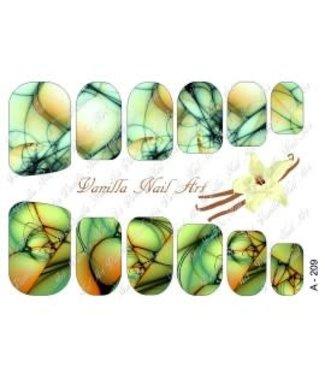 Vanilla Nail Art VNA Waterdecal Prints A 209