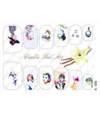 Vanilla Nail Art VNA Waterdecal Prints A 050