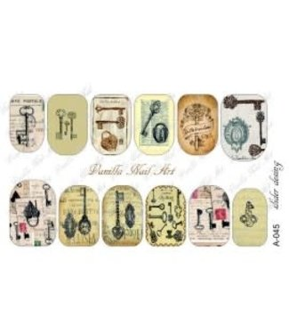 Vanilla Nail Art VNA Waterdecal Prints A 045