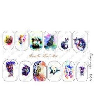 Vanilla Nail Art VNA Waterdecal Prints A 042