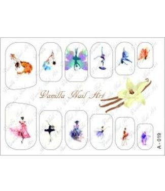Vanilla Nail Art VNA Waterdecal Prints A 019