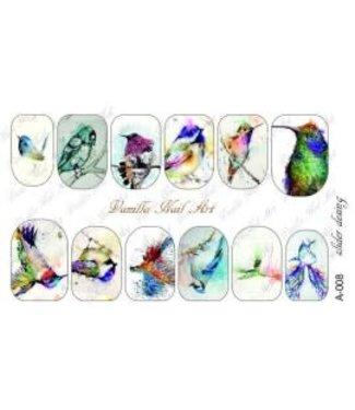 Vanilla Nail Art VNA Waterdecal Prints A 008