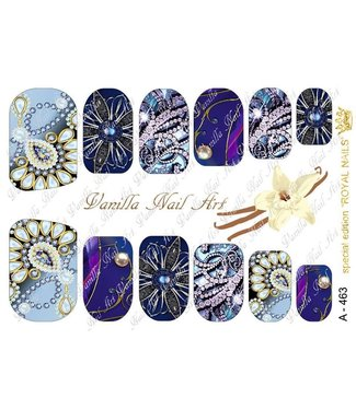 Vanilla Nail Art VNA Waterdecal Prints A 463