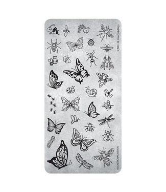 Magnetic Stempelplaat 28 Insects & Bugs
