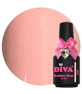 Diva Rubber Base Pink 15 ml.