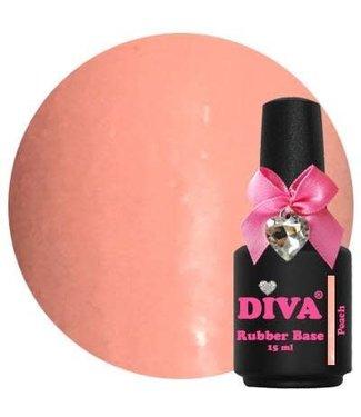 Diva Rubber Base Peach 15 ml.