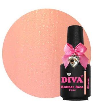 Diva Rubber Base Shimmer 15 ml.