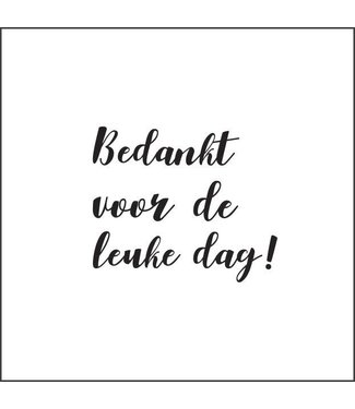 Together Wenskaart - Bedankt voor de leuke dag!