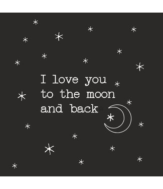 Together Wenskaart - I love you to the moon and back