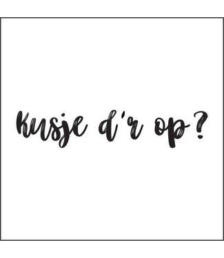 Together Wenskaart - Kusje d'r op?