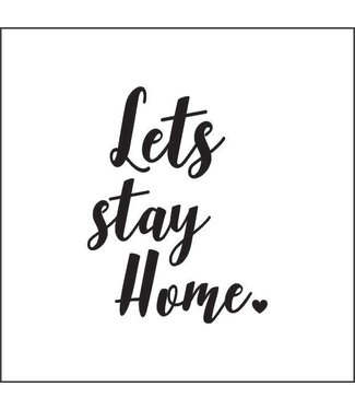 Together Wenskaart - Let's stay home