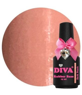 Diva Rubber Base Dark Peach 15 ml.