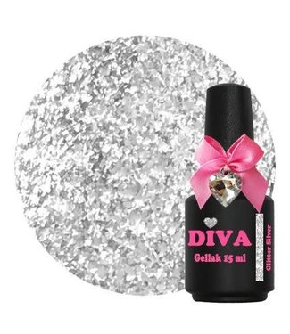 Diva Gellak Glitter Silver 15 ml.