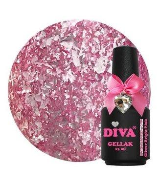 Diva Gellak Glitter Bright Pink 15 ml.