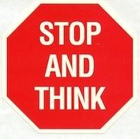 Stop en denk even na