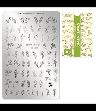 Moyra Stempelplaat 79 Green Leaves