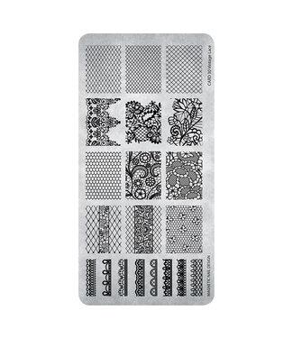 Magnetic Stempelplaat Vintage Lace