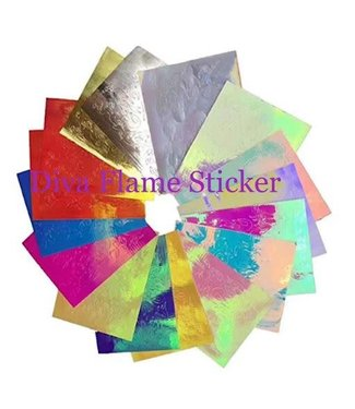 Diva Flame Hologram Stickers 16 vellen