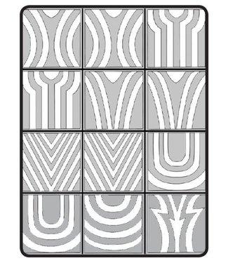 Magnetic Nail Design Airnails Stencil Geometrical Ombre