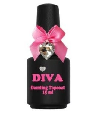 Diva Dazzling Topcoat No Wipe 15 ml.