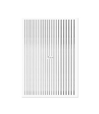 Moyra Nail Art Strips Zilver 02