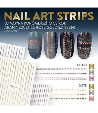Moyra Nail Art Strips Dots Zilver